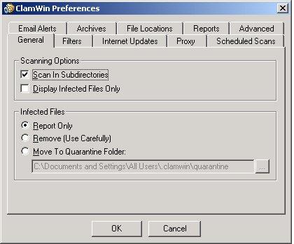 ClamWin Free Antivirus screenshot